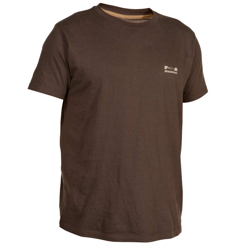 T-SHIRTS/POLOS Shooting and Hunting - 100 SS T-Shirt - Brown SOLOGNAC - Hunting and Shooting Clothing