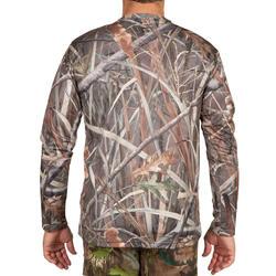 Jagers T-shirt met lange mouwen Steppe 300 moeras camouflage - 618927