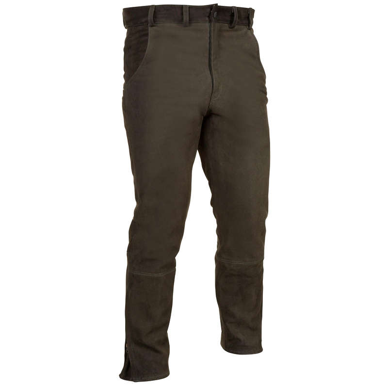WARM CLOTHING - BUFFALO HIDE LEATHER TROUSERS VERNEY CARRON