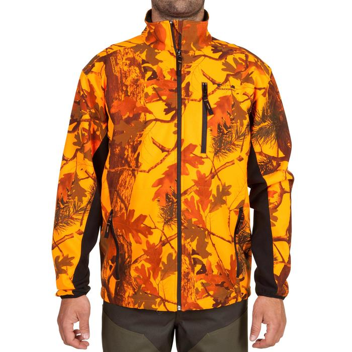 Veste Softshell chasse Sibir 500 camouflage fluo - 619339