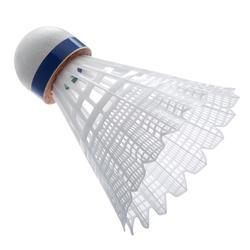 Badminton shuttle Mavis 2000 wit 6 stuks - 619386