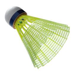 Badmintonshuttles Mavis 300 geel set van 6 - 619390