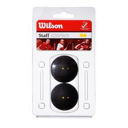 Squashbal Wilson Staff dubbele gele stip.