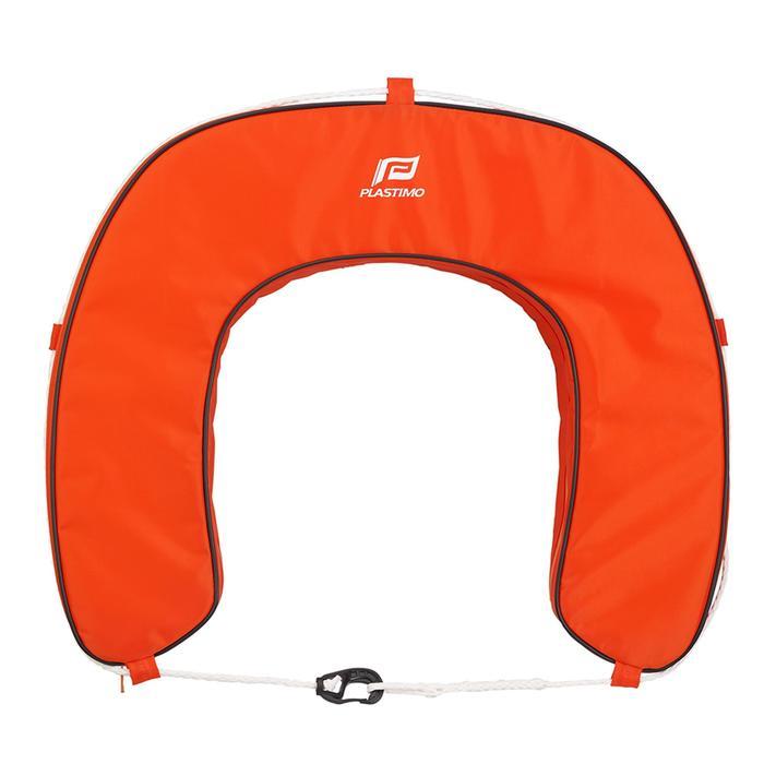 Hoefijzerboei voor boot oranje
