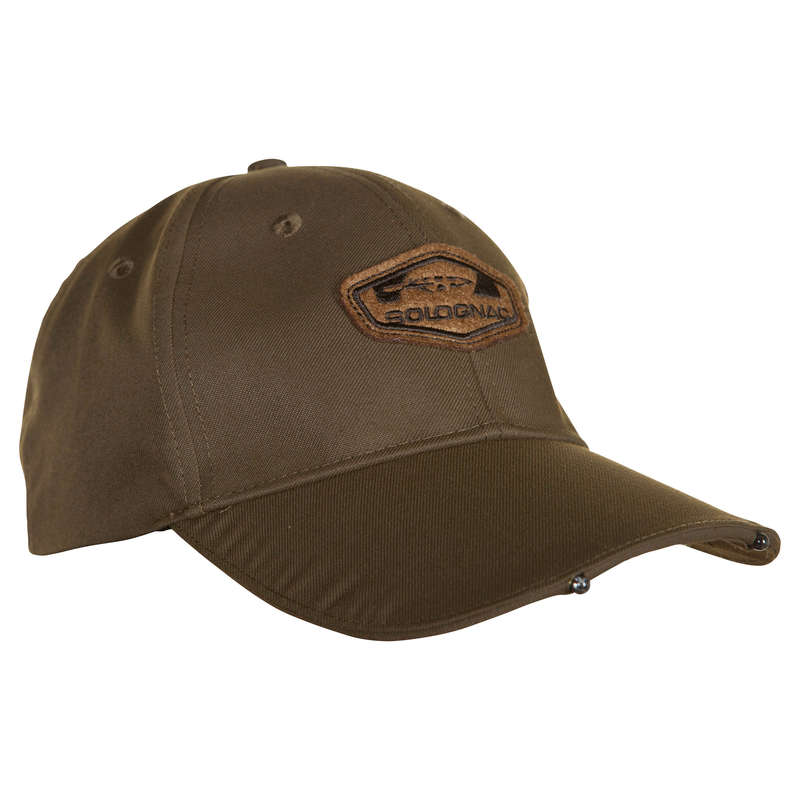 CAPS/HATS Shooting and Hunting - ILLUMINATING CAP BROWN SOLOGNAC - Hunting and Shooting Clothing