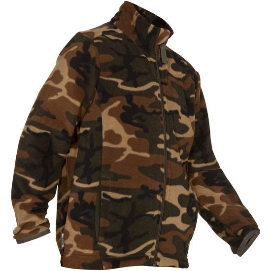 Kinderfleece Taiga 100 camouflage WL groen - 620399