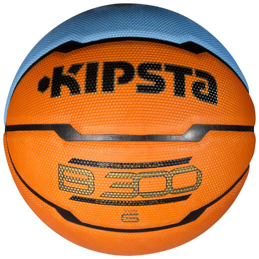 Ballon basketball B300 taille 6 orange bleu