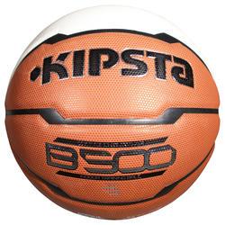 Basketbal kinderen B500 maat 5 bruin/wit