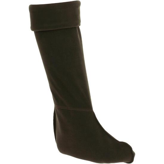 Fleece sokken voor ruiterlaarzen met randje in imitatiebont - 62348