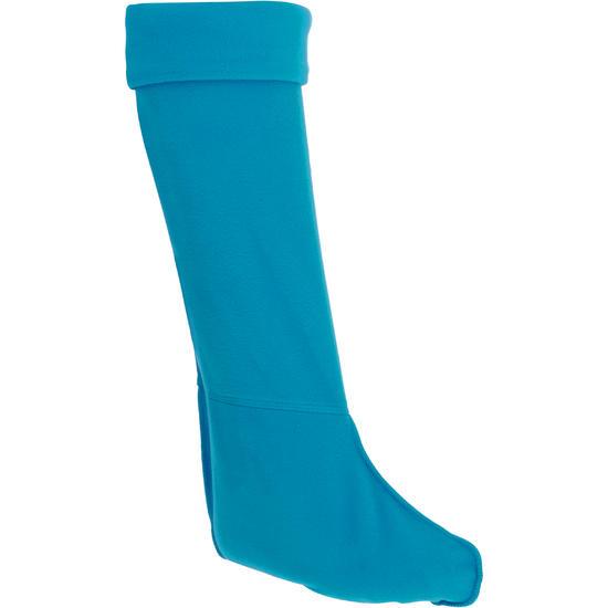 Fleece sokken voor ruiterlaarzen met randje in imitatiebont - 62357