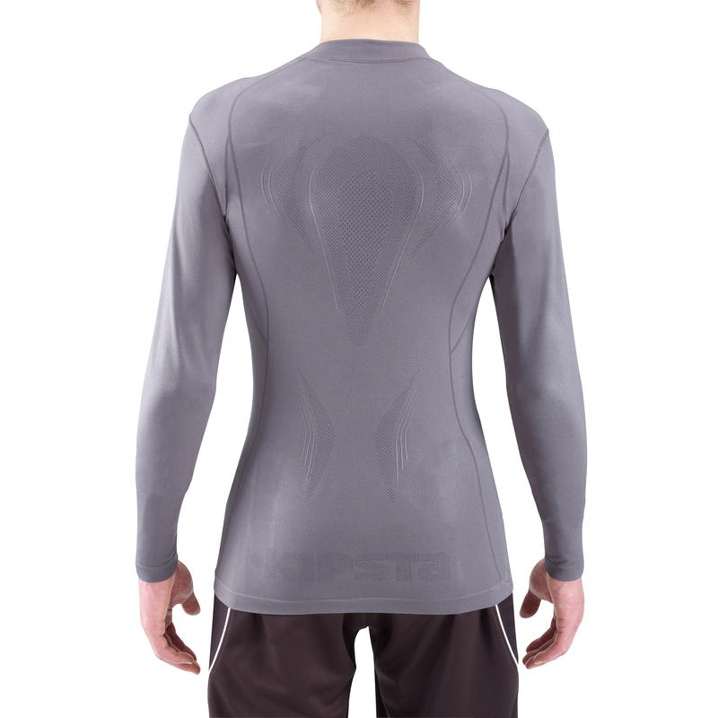 Sous maillot manches longues Keepdry 500 adulte gris