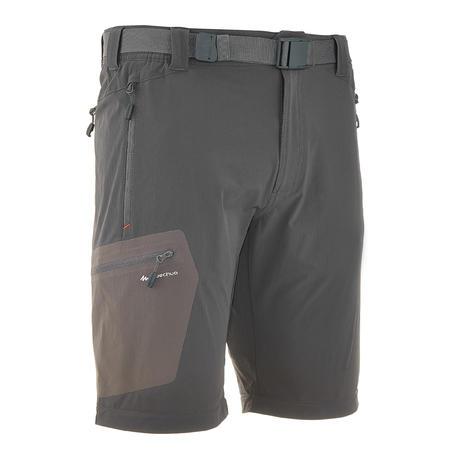 Forclaz 500 Men's Zip-Off Hiking Trousers - Dark Grey