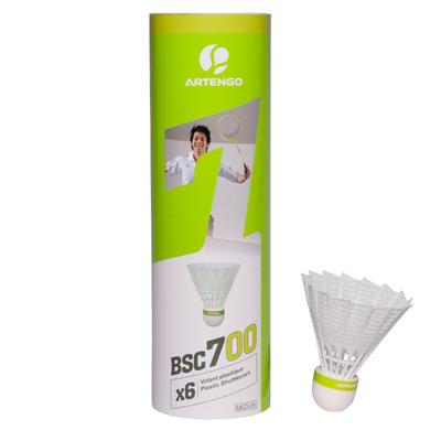 BSC700 Badminton Shuttle 6-Pack - White