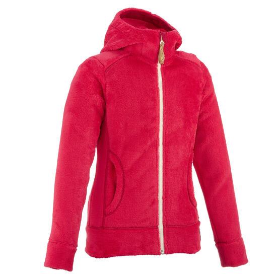 Fleece meisjeshoodie voor trekking Warm - 62805