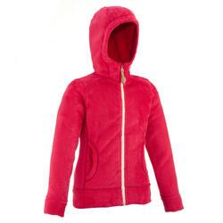Fleece meisjeshoodie voor trekking Warm - 62808