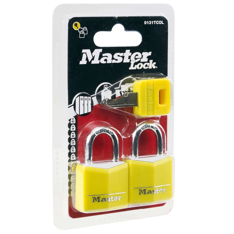 COMPACT BACKPACKS TRAVEL ACC TRAVEL TREK Trekking - Master Lock Set of Two Padlocks with Keys - Yellow MASTER LOCK - Trekking