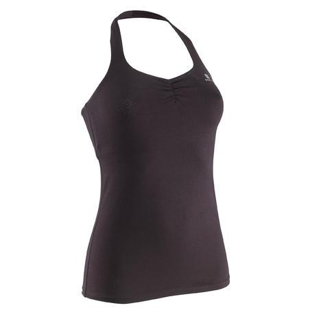 Backless modern dance tank top - black