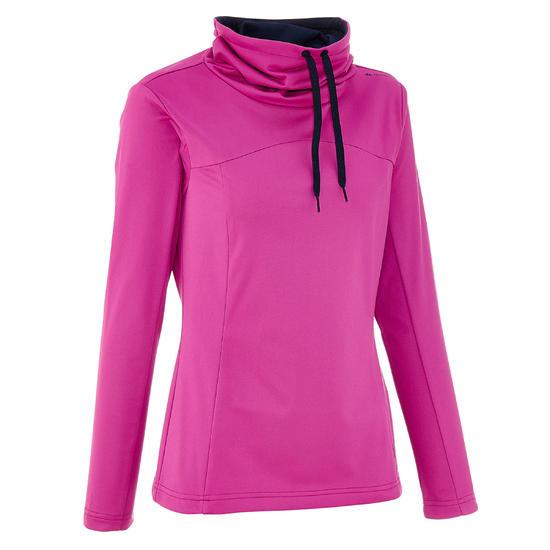 Dames T-shirt met lange mouwen voor trekking Forclaz 100 Warm - 62829