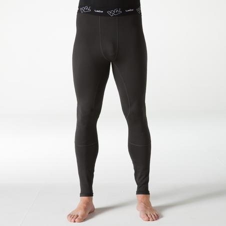 Wedze Flowfit Men's Skiing Base Layer Trousers - Black