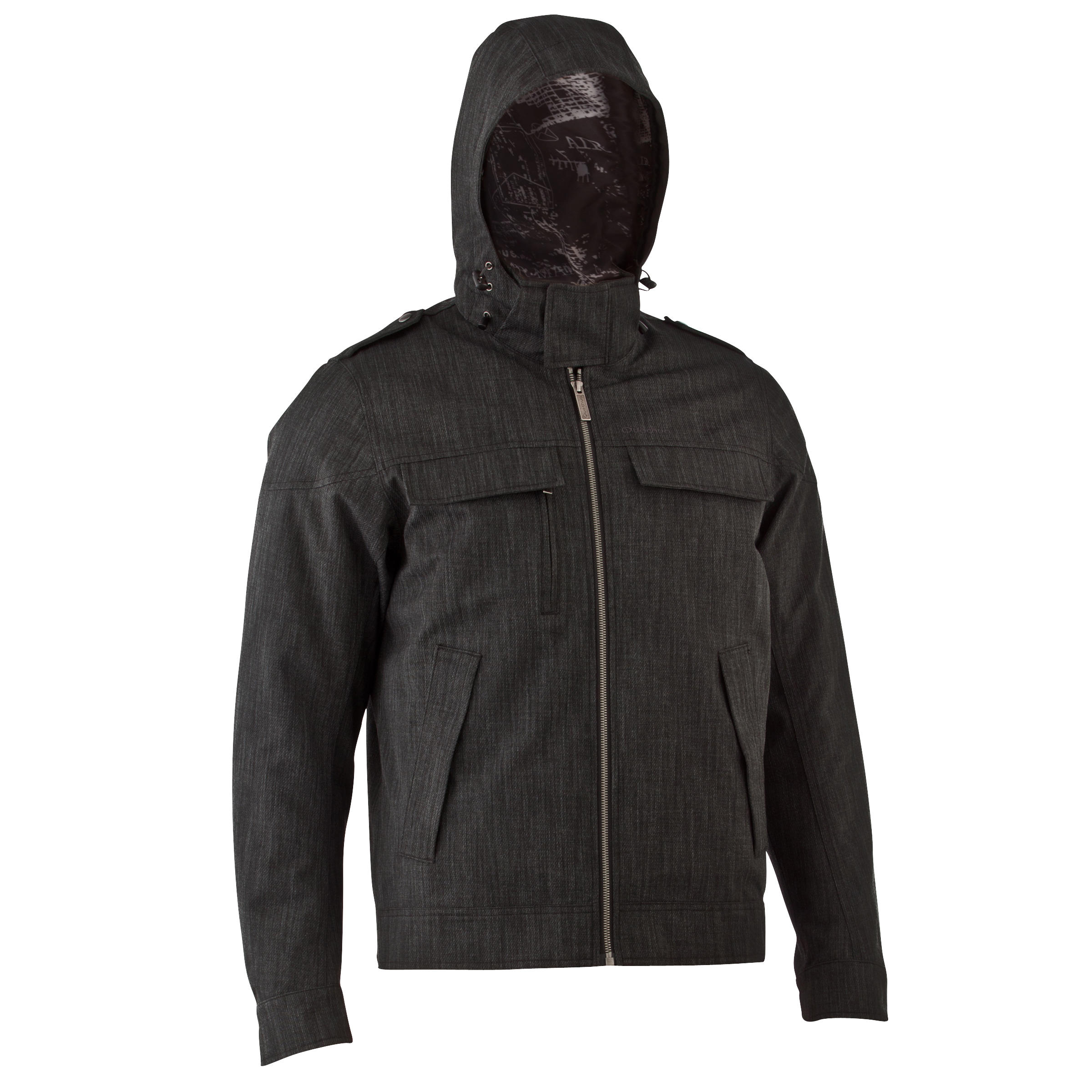 SH500 X-Warm Men's Snow Hiking Jacket - Charcoal Grey.