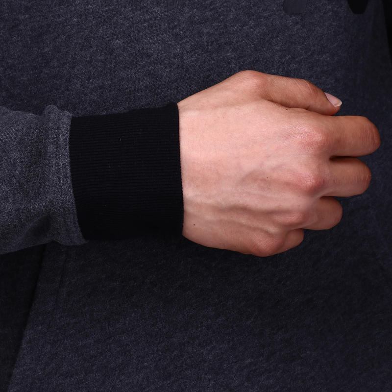 Sweat capuche musculation homme imprimé gris foncé