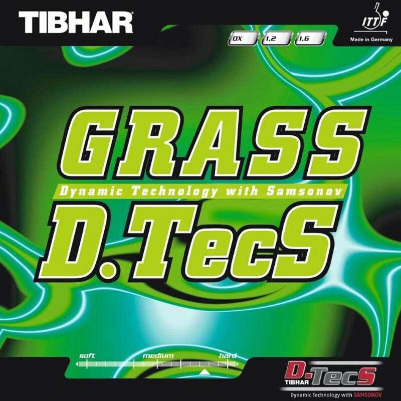 ДЪРВЕТА И ГУМИ ЗА ХИЛКИ ЗА ТЕНИС НА МАСА Тенис на маса - ГУМА ЗА ХИЛКА GRASS D.TECS TIBHAR - Тенис на маса клуб