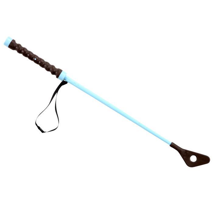 Schooling 兒童馬術運動馬鞭 56公分 - 棕色/天藍色