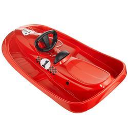 Slee met rem en stuur voor kinderen Snow Formel rood
