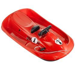 Schlitten mit Bremse Snow Formel Erwachsene/Kinder rot