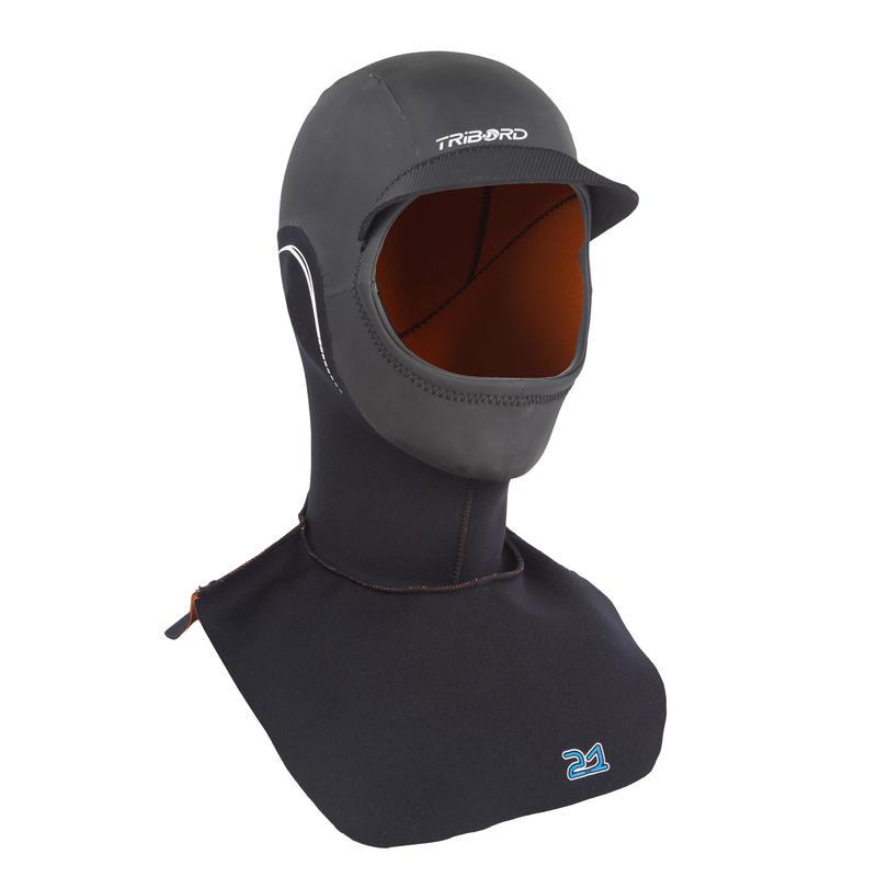 Neoprēna pilnā hidrotērpa sērfošanas kapuce, 2 mm