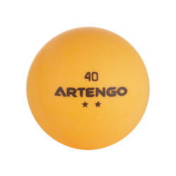Tafeltennisballetjes FB 850 2 ster, 6 stuks wit en oranje - 634416