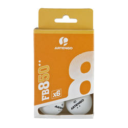 Tafeltennisballetjes FB 850 2 ster, 6 stuks wit en oranje