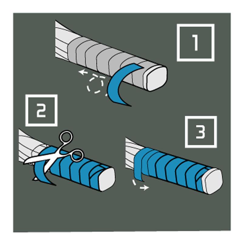 Superior Badminton Overgrip x 3 - White