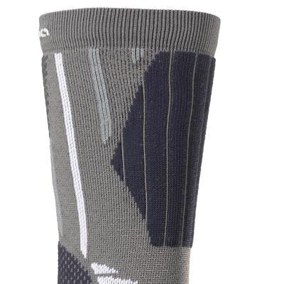 2 paires de chaussettes de randonnée tiges hautes adulte Bionnassay 900 High gri