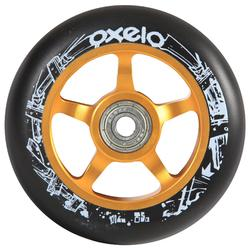 Scooter-Rolle Freestyle Alu-Core PU 100mm gold/schwarz