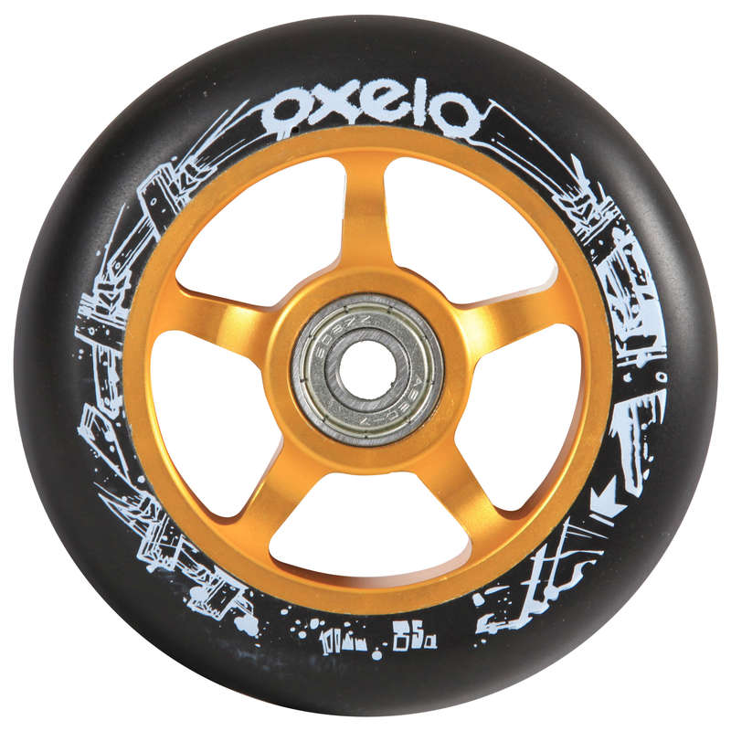 Accesorii Trotinete Freestyle Trotinete Role Skateboard - Roată Aluminiu PU 100mm Negru OXELO - Trotinete