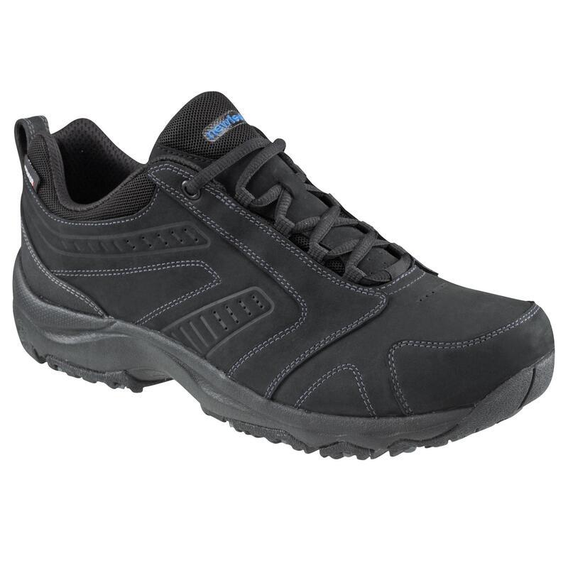 Waterdichte herensneakers voor sportief wandelen Nakuru leer zwart