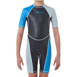 Zwempak met shorty jongens Kloupi blauw/blauwgroen - 63899