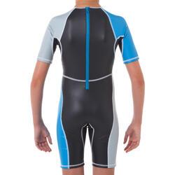 Zwempak met shorty jongens Kloupi blauw/blauwgroen - 63900