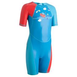 Zwemshorty jongens KLOUPI SCOUP blauw/rood
