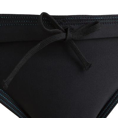 Vestido de baño tipo Slip Natación 100 Basic Niño Negro