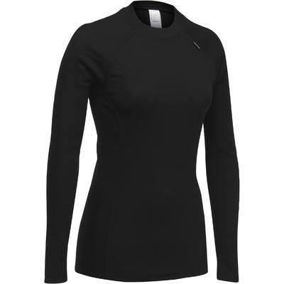 Sous-vêtement haut de ski femme Simple Warm Noir