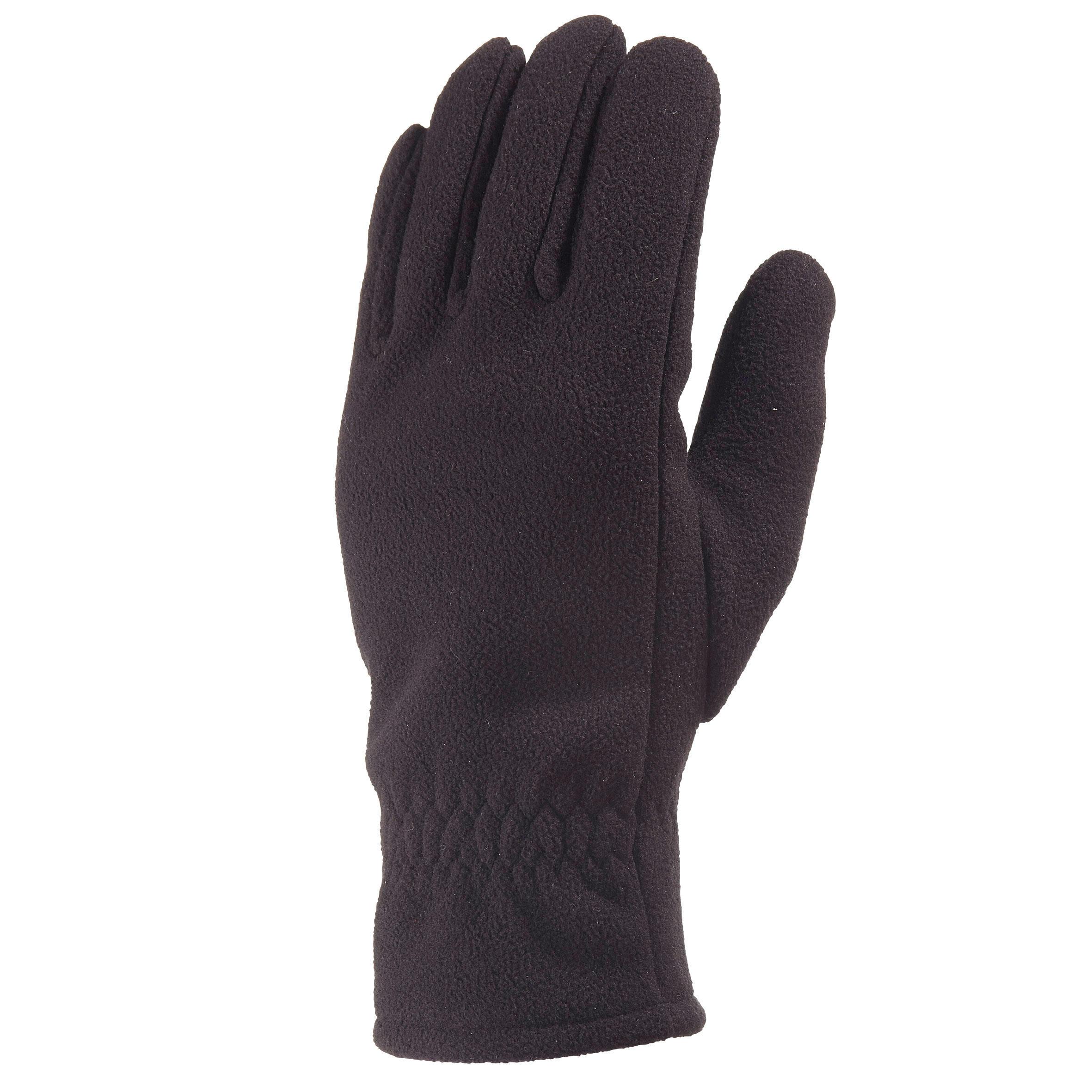 Handschuhe Trek 500 Fleece Erwachsene schwarz | Accessoires > Handschuhe | Schwarz - Grau | Quechua