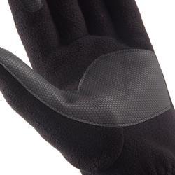 Fleece handschoenen voor bergtrekking Trek 500 volwassenen zwart