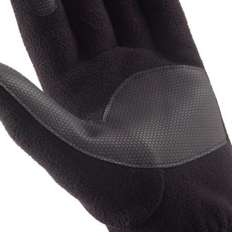 Trek 500 Adult Fleece Mountain Gloves - Black