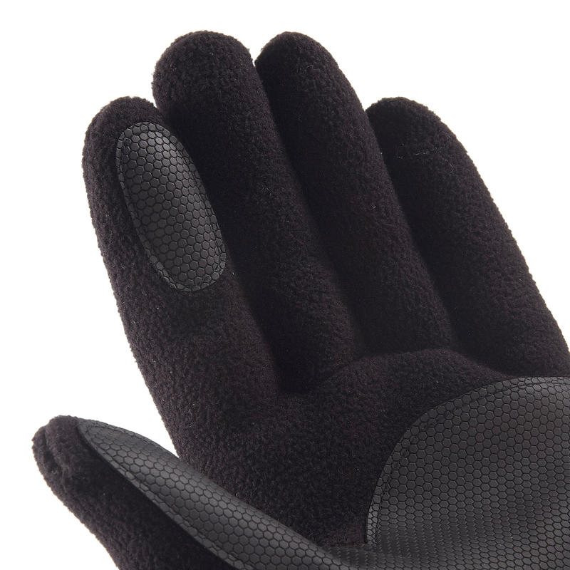 Trek 500 Adult Fleece Mountain Gloves - Black