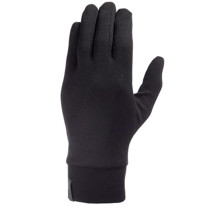 Sous-gants trekking montagne Trek 500 soie noir