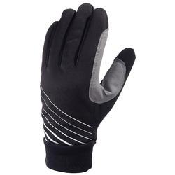 Warme kinderhandschoenen voor langlaufen zwart