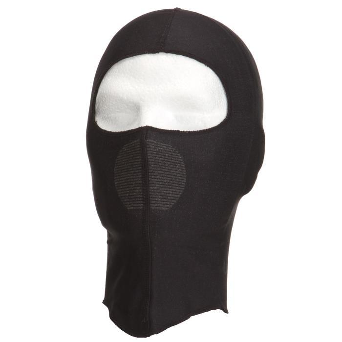 Bivakmuts voor volwassenen om onder een helm te dragen zwart