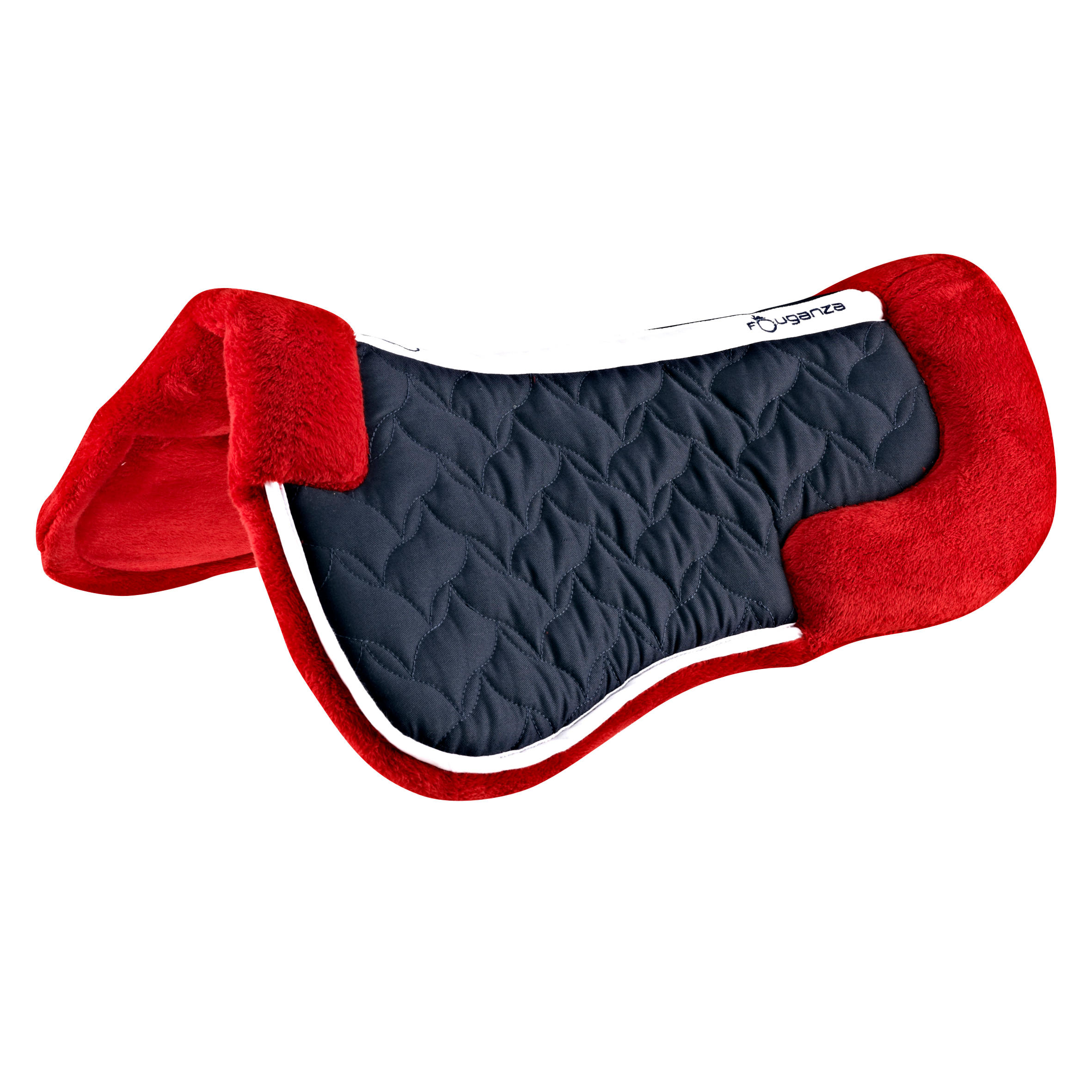 Lena Fleece Horse Riding Foam Saddle Pad For Horse And Pony - Red
